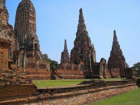 Chrám Wat Ratchaburana ve městě Ayutthaya, Thajsko