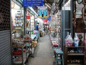 Víkendová tržnice Chatuchak v Bangkoku