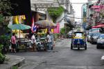 Ulice Silom ve městě Bangkok, Thajsko